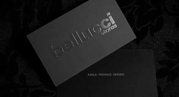 Showcase of 30 amazing business card designs spyrestudios bellucci stores reheart Image collections