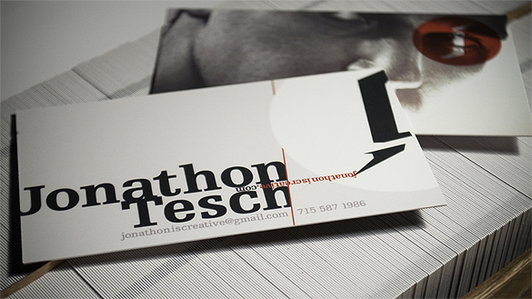 Jonathon Tesch Personal Business Card