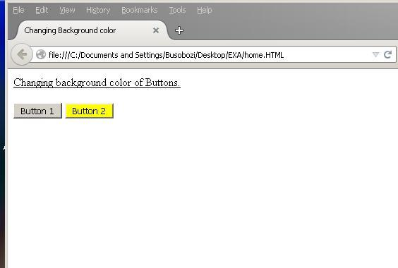 How To Change The Background Color Of A Button On Mouse Click When