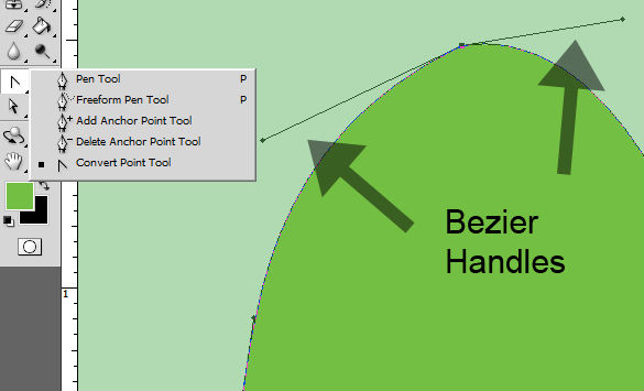 Bezier Handles for Curvature Adjustments