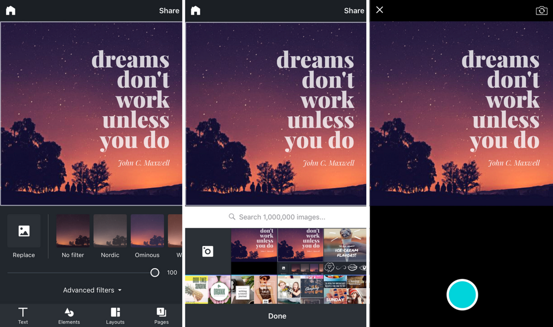 Photos in Canva for iPhone