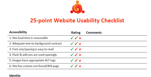 25-point Website Usability Checklist