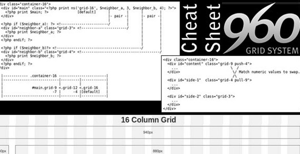 960 Grid System Cheat Sheet