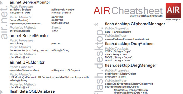 Adobe Air Cheat Sheet