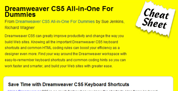Adobe Dreamweaver CS5 – all in one for dummies