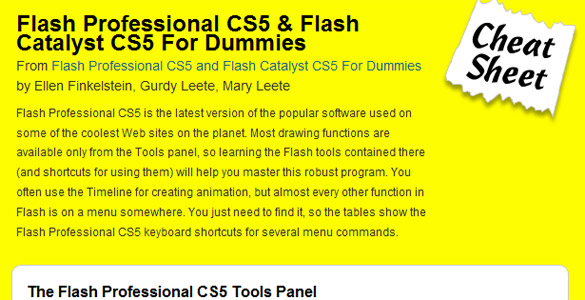 Adobe Flash CS5 & Flash Catalyst for dummies