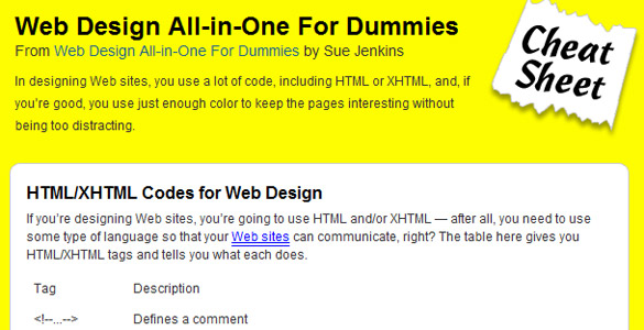 Webdesign for dummies