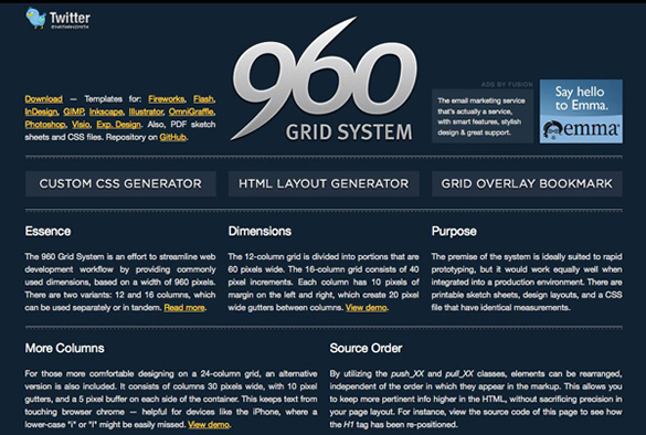 10 really outstanding and useful css grid systems spyrestudios 960 grid system malvernweather Images