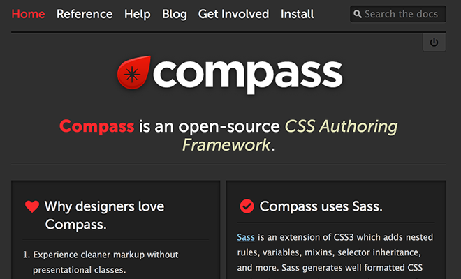 compass sass homepage layout design
