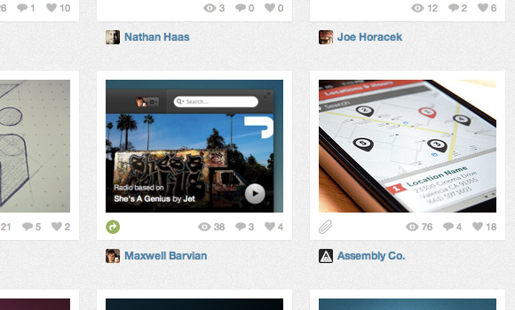 Dribbble home page box shadows with css3