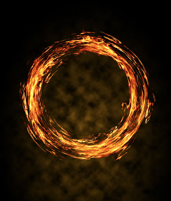 Fiery Ring Poster