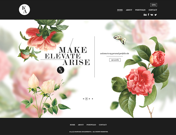 spring-themed design example