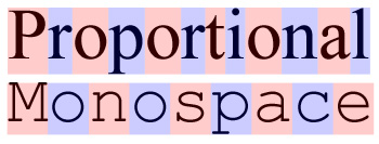 text spacing letter width