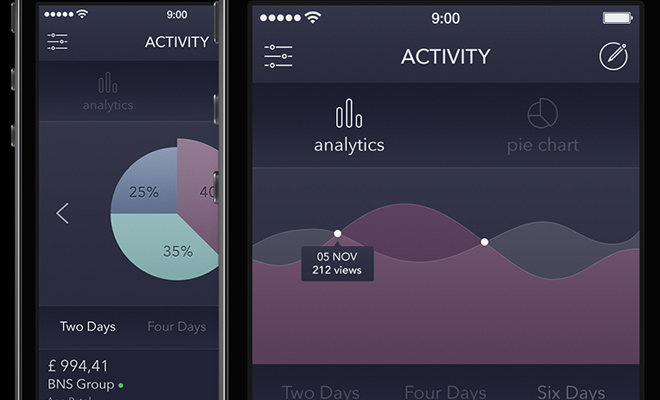 dark analytics app freebie psd alexander zaytsev
