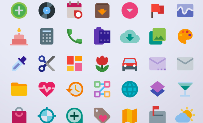 material color iconset freebie