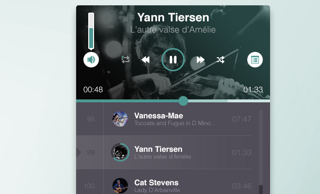 freebie psd ios app ui music player