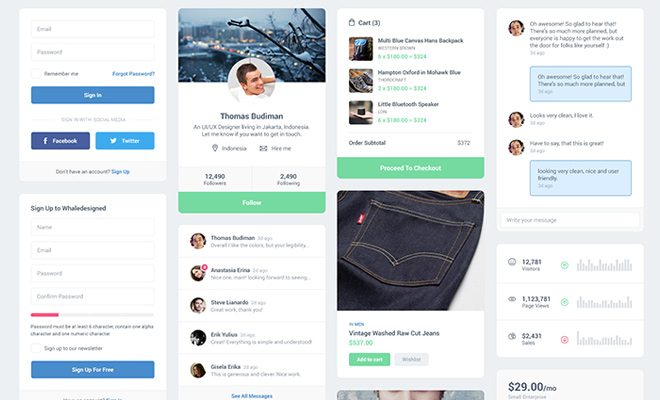 mfd ui kit freebie psd