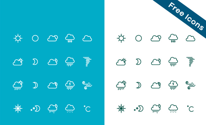 free weather iconset freebie