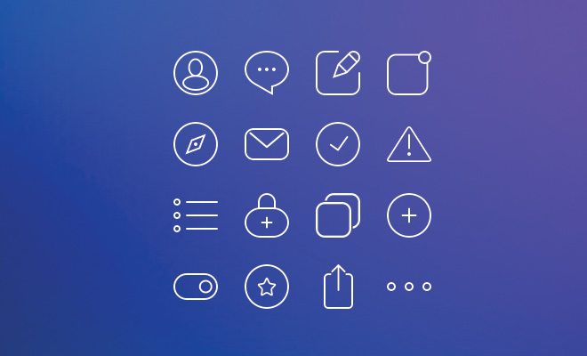 basic simple practice icons freebie