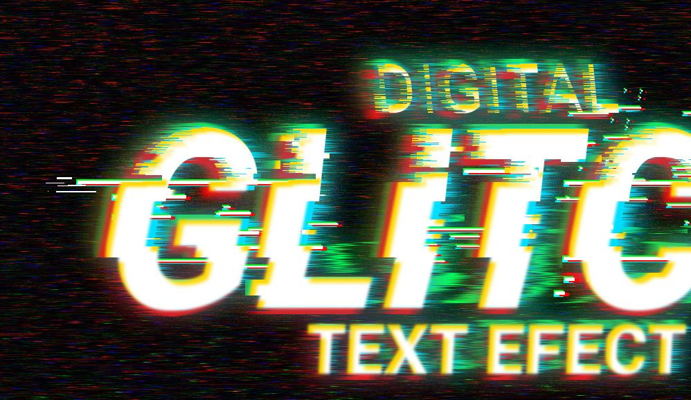 Digital glitch effect