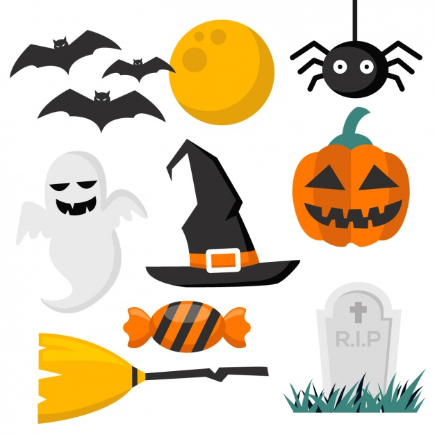 halloween design elements collection