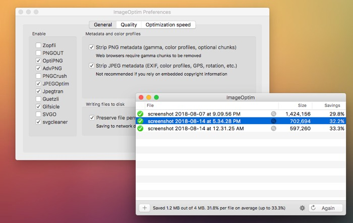 how to reduce image file size imageoptim