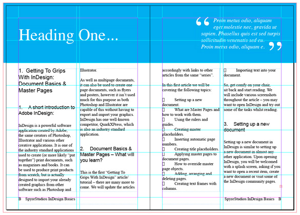 Getting To Grips With InDesign Part 1: Document Basics & Master