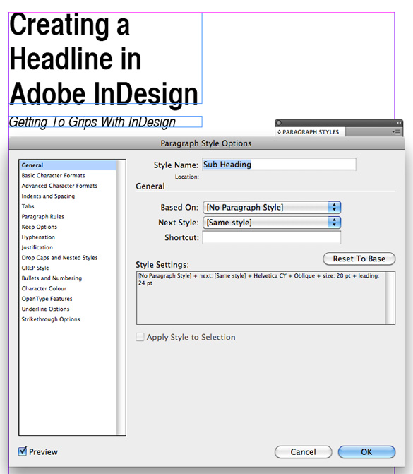 InDesign Tutorial Part 3