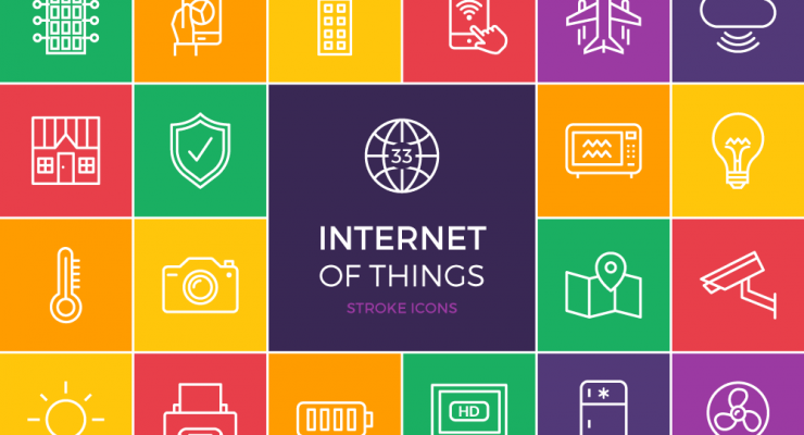 FREEBIE: The Internet of Things Stroke Icon Set