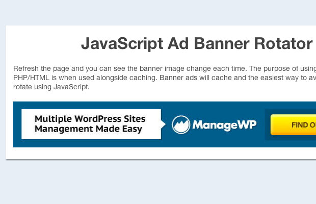jquery javascript advertising rotator banner tutorial preview