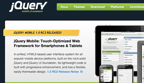 jQuery Mobile Framework Official Website