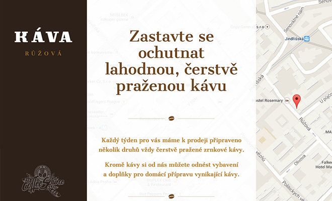 kava ruzova czech cofee website homepage