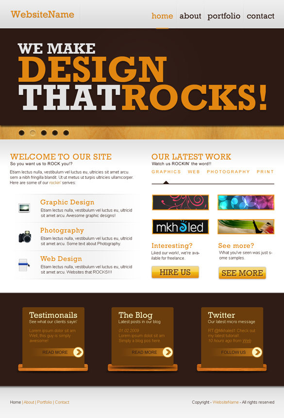 How To Create A Rockin Website Layout In Photoshop Spyrestudios