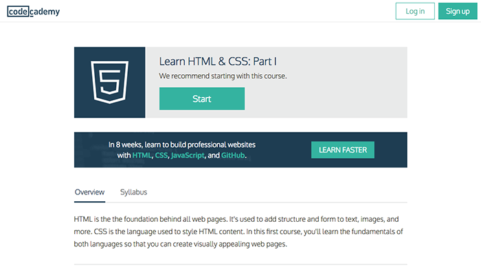 learn web development codecademy html css