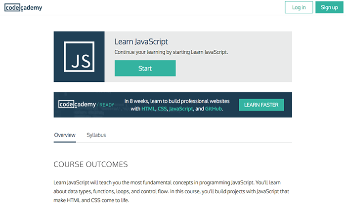 learn web development codecademy javascript
