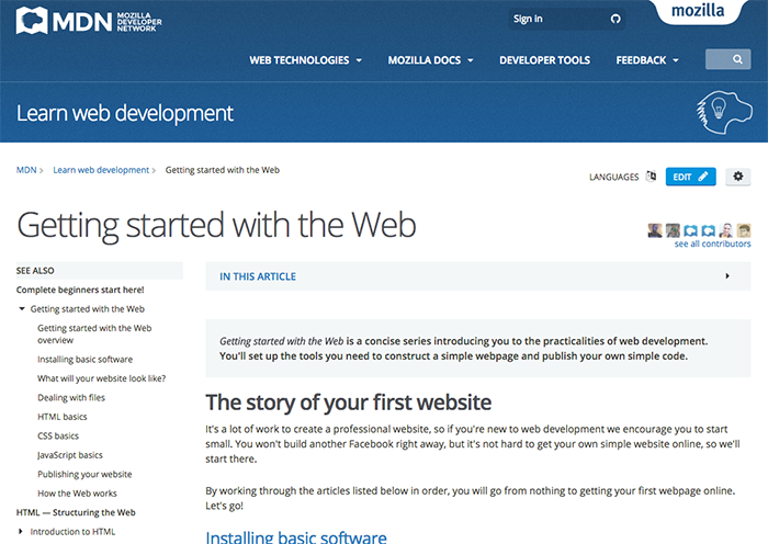 learn web development getting started with the web mdn