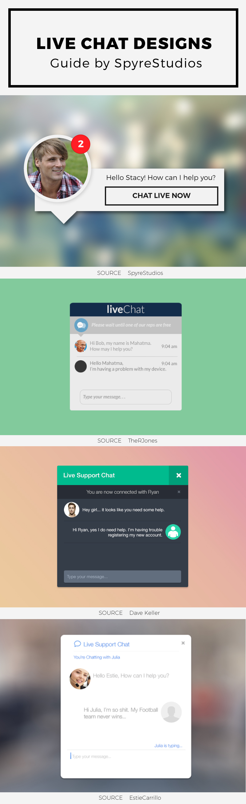 Live Chat UI designs