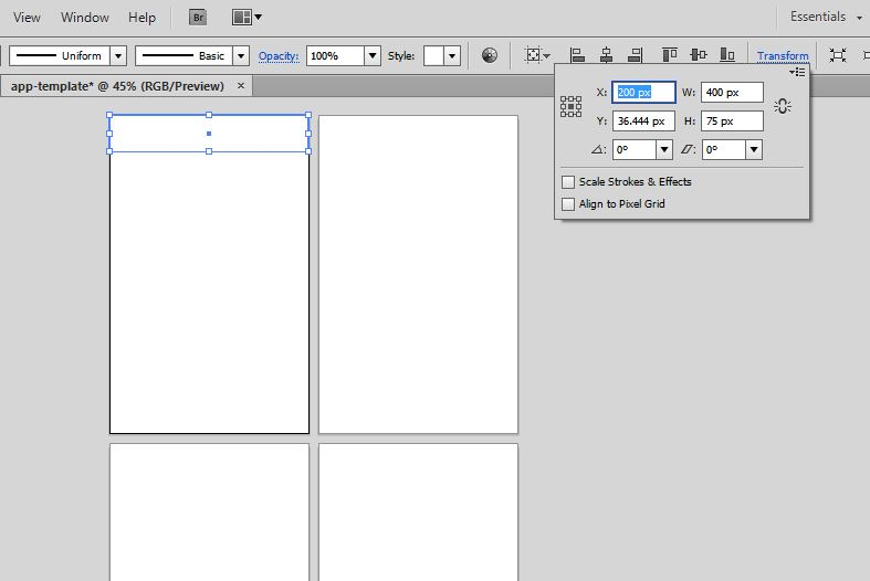 create an app prototype template with this tutorial
