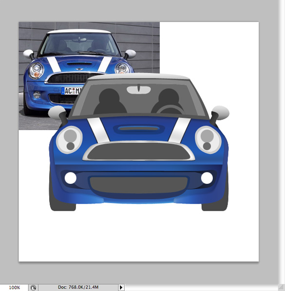 BMW Mini Cooper Photoshop Tutorial