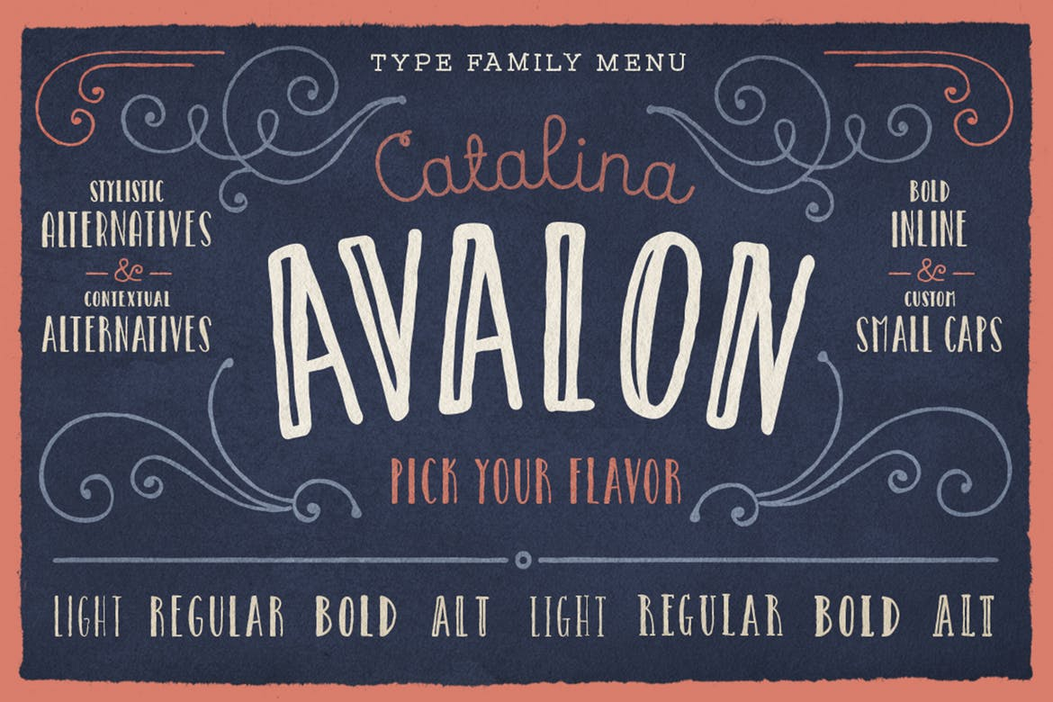 handwritten fonts catalina avalon