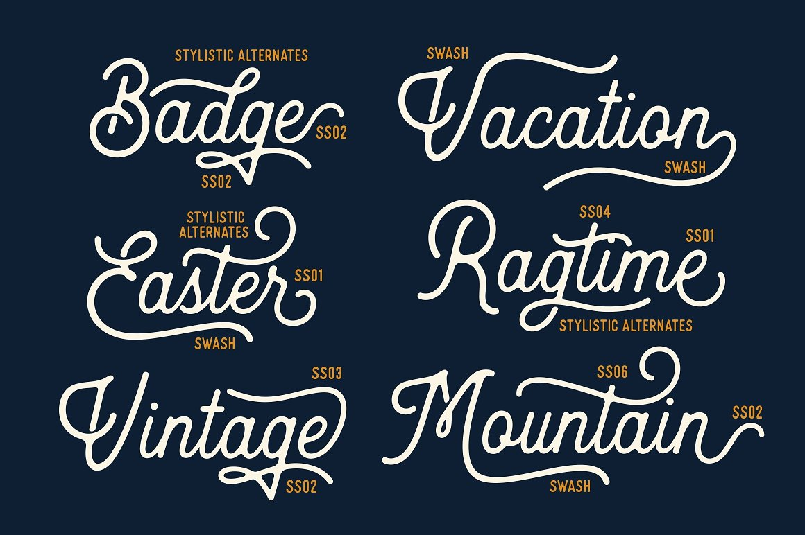 handwritten fonts heritage