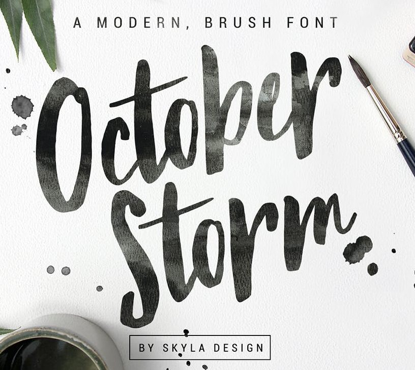 handwritten fonts october storm