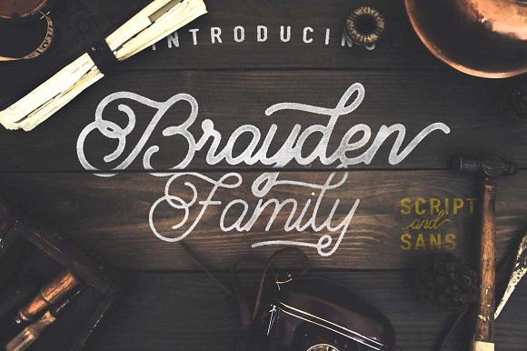 modern handwritten fonts brayden family