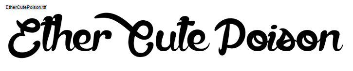 modern handwritten font ether cute poison