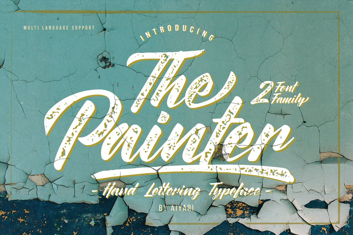 handwritten font the painter