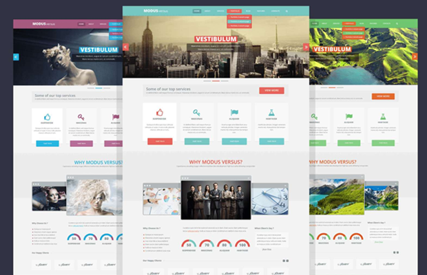 modus versus psd freebie website template