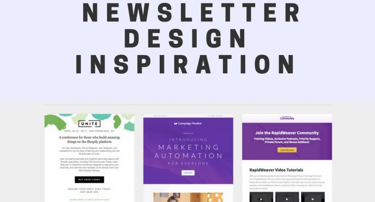 8 Resource Websites For Newsletter Design Inspiration