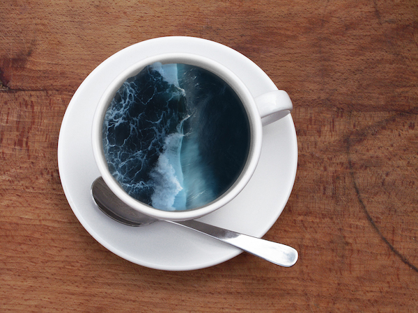 ocean in coffee mug