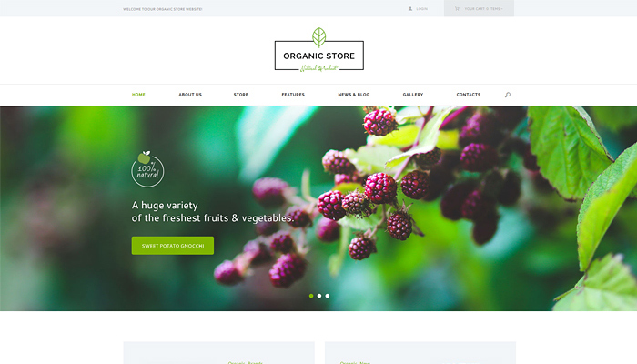 green wordpress website templates