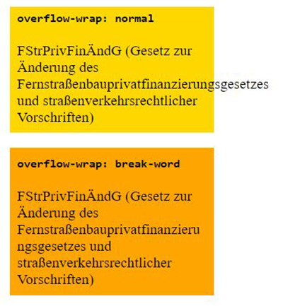 change default text wrapping overflow wrap